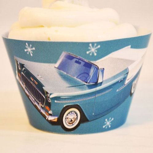 50s Chevy Blue Wraps - Set of 15