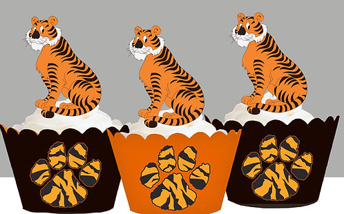 Tiger Jungle Party Toppers