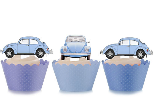 Blue VW Beetle Toppers