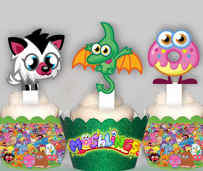 Moshi Monsters Moshlings Toppers