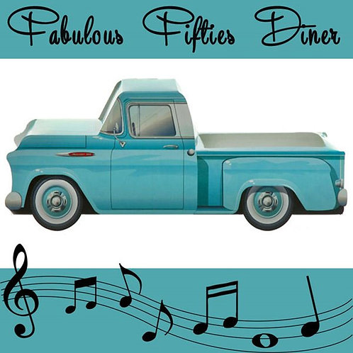 Blue 1957 Chevy Pick Up Truck Treat Box
