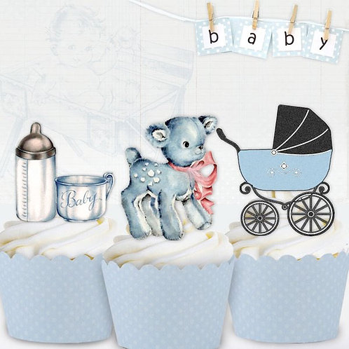 Vintage Baby Boy Toppers