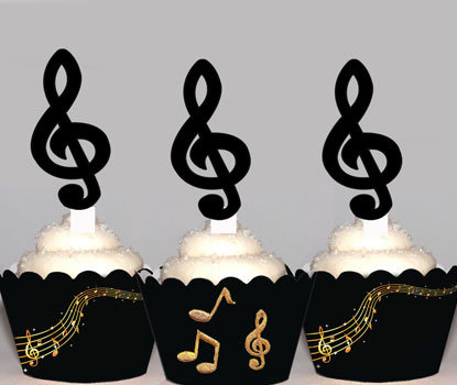 Music Notes Toppers