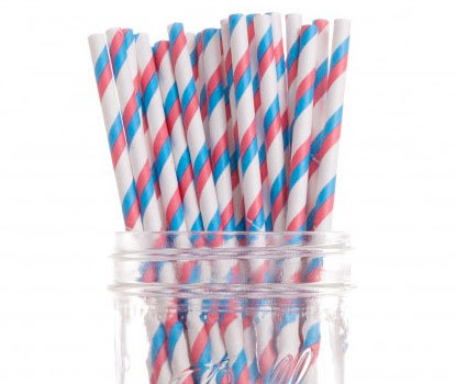 Red, White & Blue Circus Party Straw