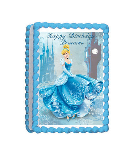 Cinderella Princess Party Icing Sheet