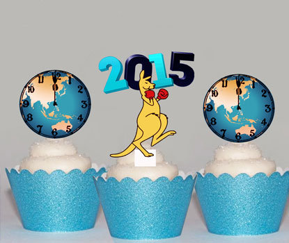 World Clock Kangaroo Toppers
