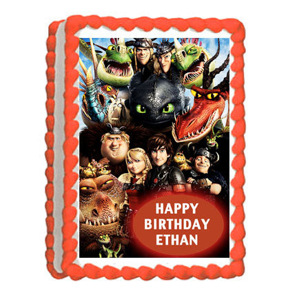 How to Train Your Dragon rectangle Icing Sheet