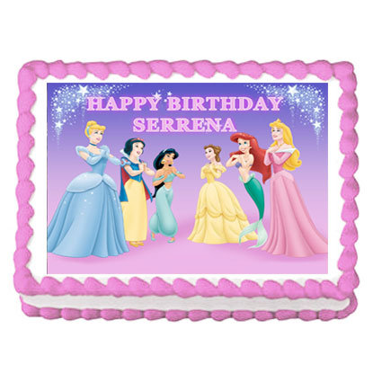 Disney Princess Icing Sheet