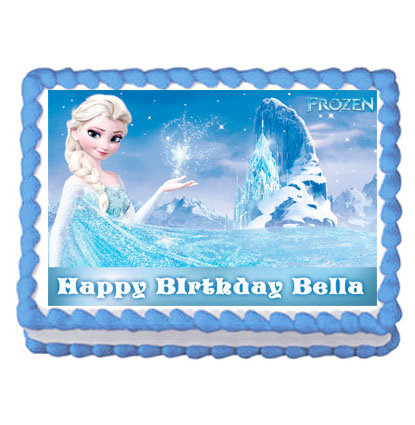 Elsa Frozen Party Icing Sheet