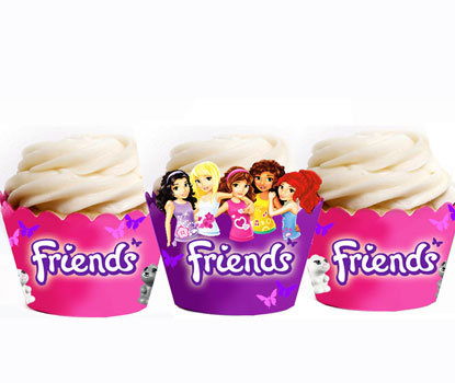 Lego Friends Cupcake Wrappers