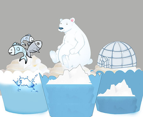 Winter Polar Bear Party Toppers