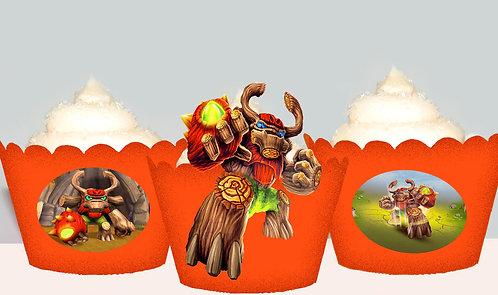 Skylanders TreeRex Cupcake Wrappers