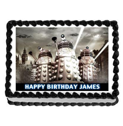 Dalek Dr Who Rectangle Icing Sheet