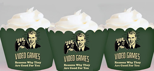 Computer Game Cupcake Wrappers