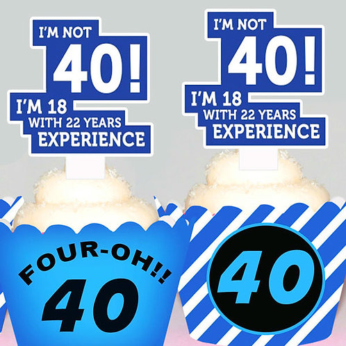 Mens 40th Birthday Toppers