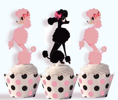 Paris Poodle Party Toppers