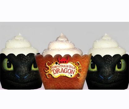 How to Train Your Dragon Cupcake Wrappers