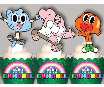 The Amazing World Of Gumball Party Toppers