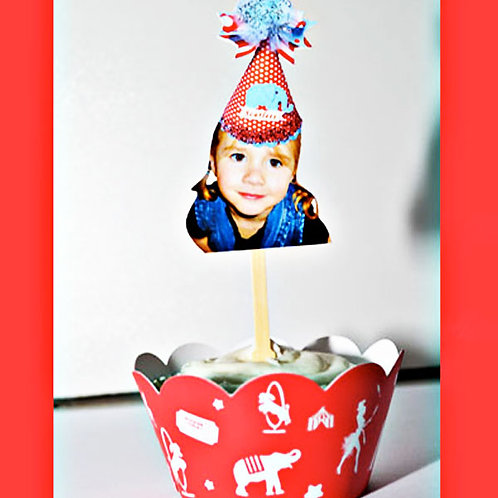 Custom Circus Party Hat Toppers