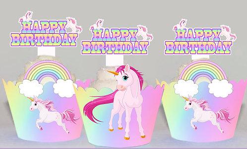 Rainbow Unicorn Toppers