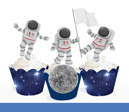 Astronaut Party Toppers
