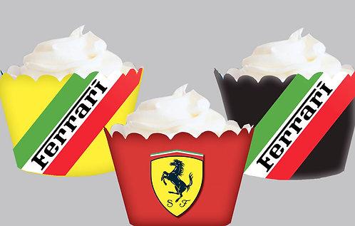 Exotic Car Ferrari Inspired Party Wraps