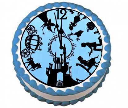 Cinderella Clock Strikes Midnight Icing Sheet
