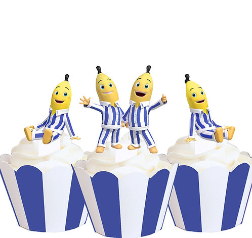 Bananas in Pajamas Party Toppers