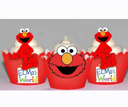 Elmo Cupcake Wrappers