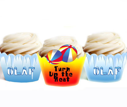 Olaf Frozen Cupcake Wrappers