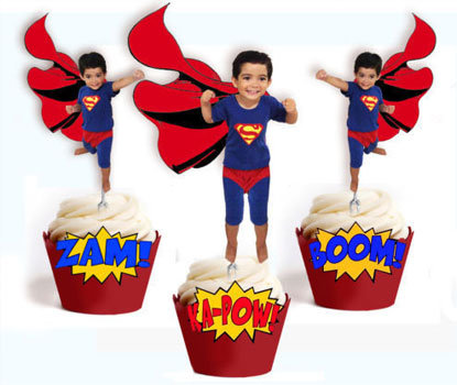 Superman Custom Face Toppers
