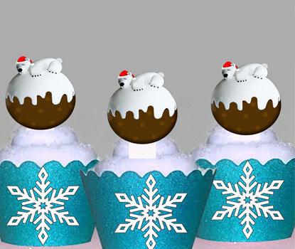 Polar Bear Pudding Toppers