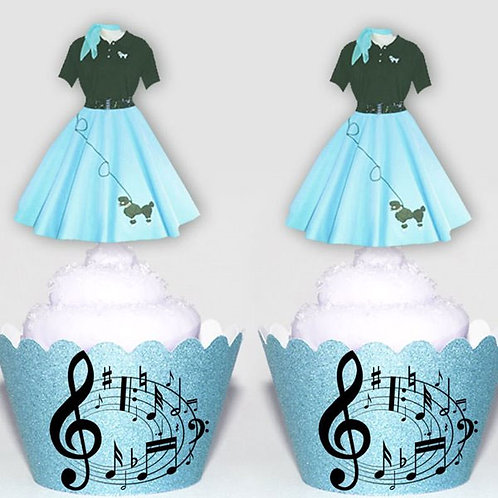 Blue Poodle Skirt Toppers