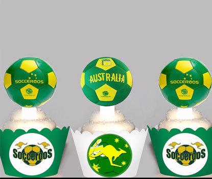 Socceroos Cupcake Toppers