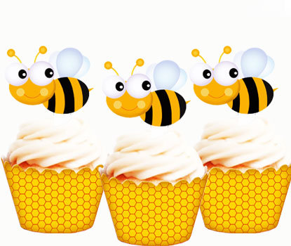 Bumble Bee Edible Toppers