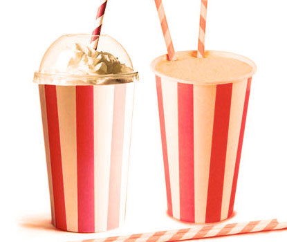 RED CIRCUS Milkshake Cups