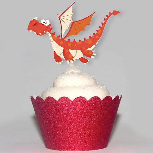 Flying Dragon Party Toppers
