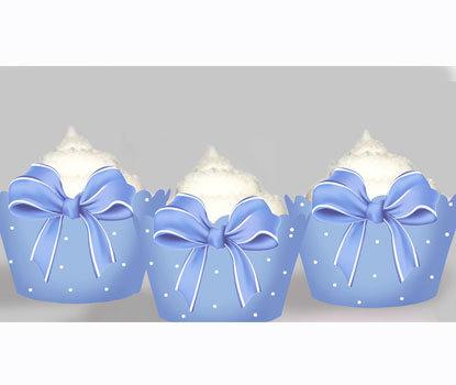Blue Bow Wraps