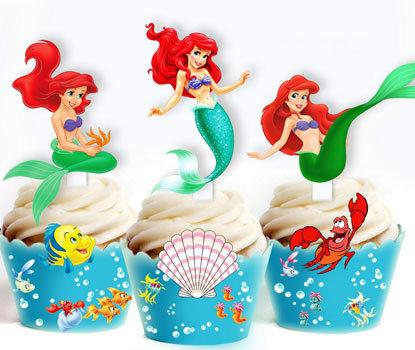 Little Mermaid Ariel Toppers
