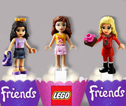 Lego Friends Toppers