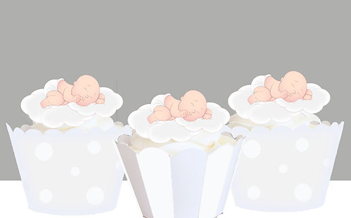 Christening Cloud Baby Toppers
