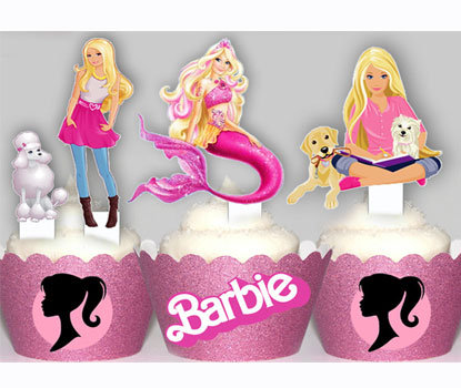 Barbie Party Toppers