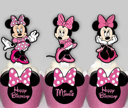 Pink Minnie Mouse Toppers