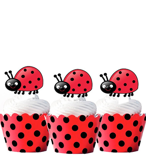 Lady Bug Edible Toppers