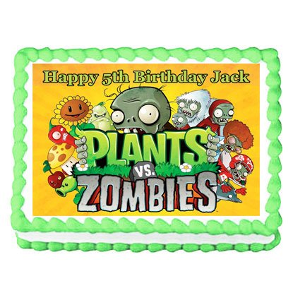 Plants Vs Zombies Rectangle Icing Sheet