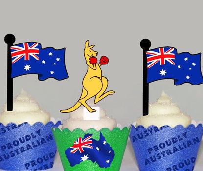 Boxing Kangaroo Toppers