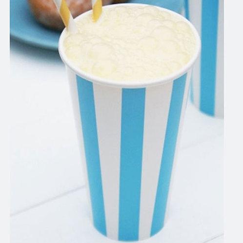Blue Diner Milkshake Cups