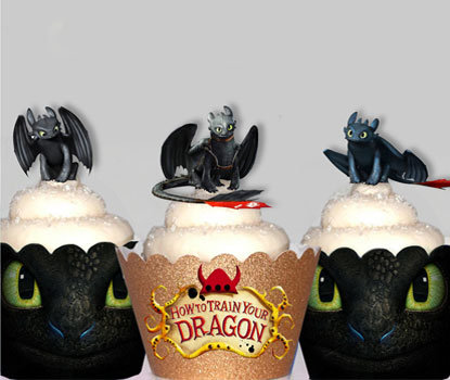 42 Mini Night Fury Toothless Dragon Toppers
