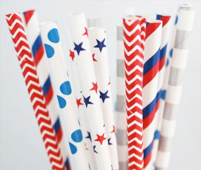 Stars and Stripes Circus Party Straw