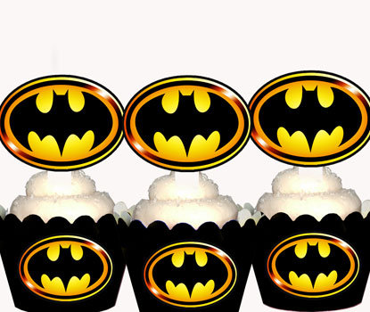 Superhero Batman Emblem Toppers